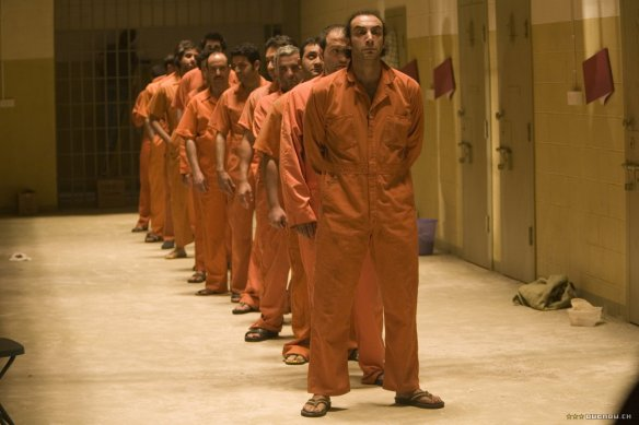 Detainees at Abu Gharib.