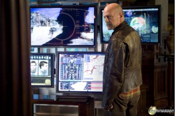 Bruce Willis reacts to finding out that this isn't the next Die Hard movie.