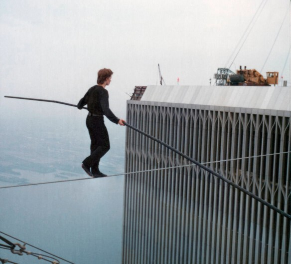 Philippe Petit sets out on an epic journey.