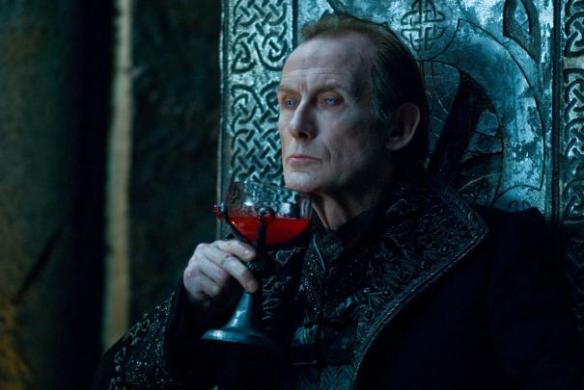 Bill Nighy doesn't drink...wine.