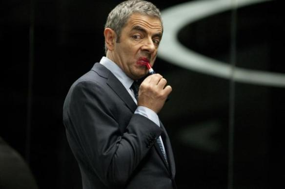 Rowan Atkinson gives himself a little touch-up.
