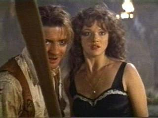 Brendan Fraser and Rachel Weisz in a sticky situation.