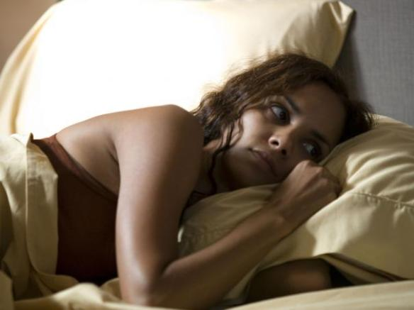 Halle Berry sleeps one off.