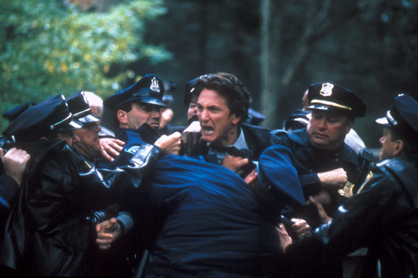 Sean Penn finds out there's a paparazzi convention in town.