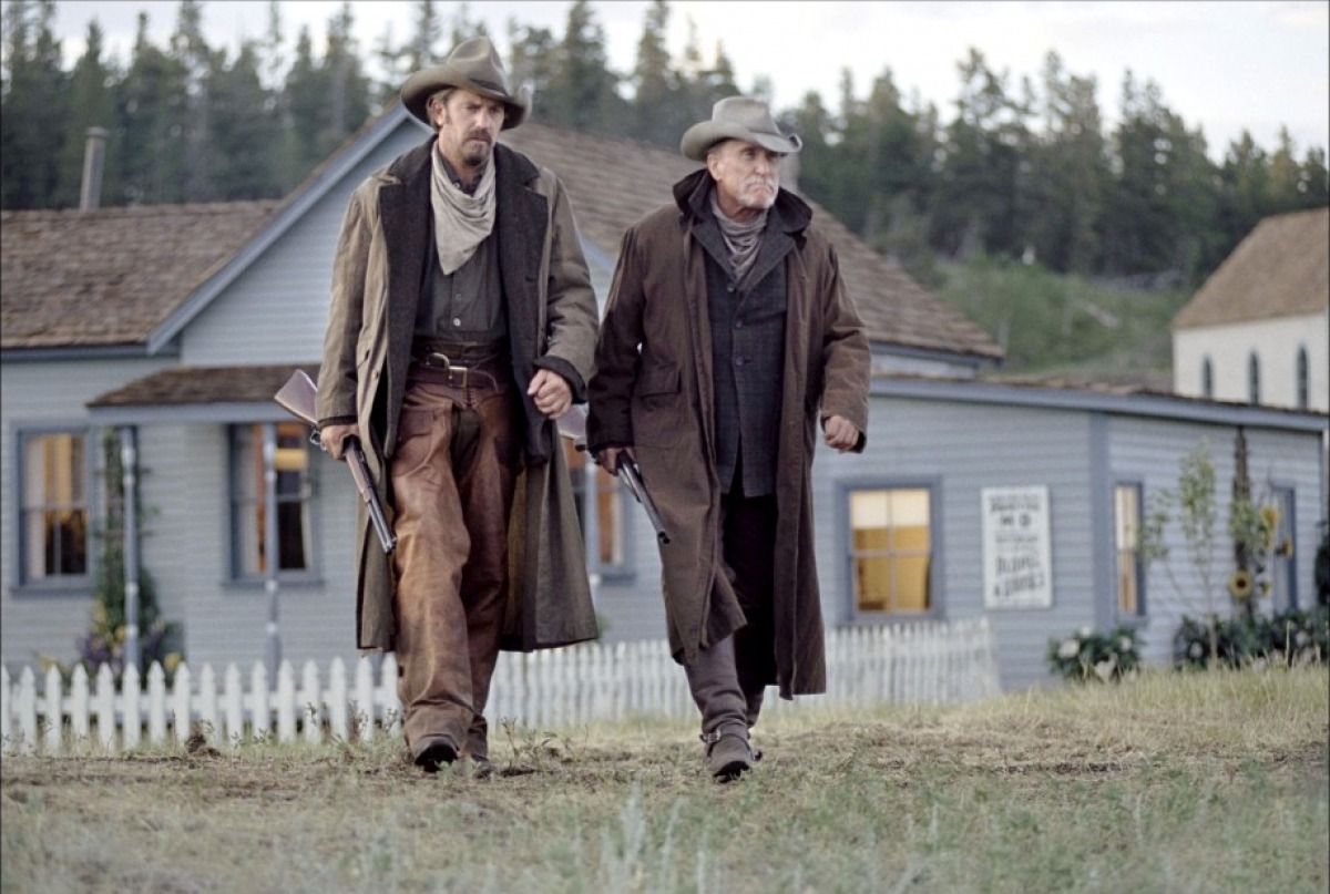 Kevin Costner and Robert Duvall are home on the range.
