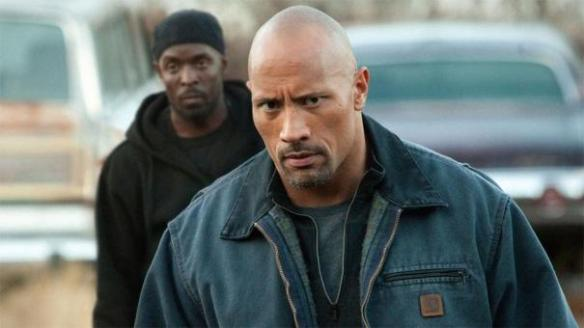 This is NOT an expression you want to see on Dwayne Johnson's face when he's walking towards you.