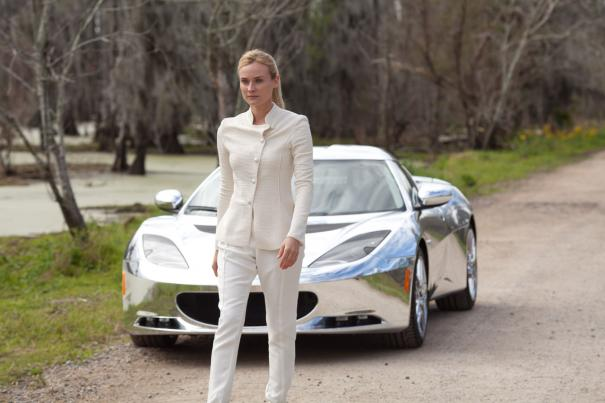 Diane Kruger and her cool ride.