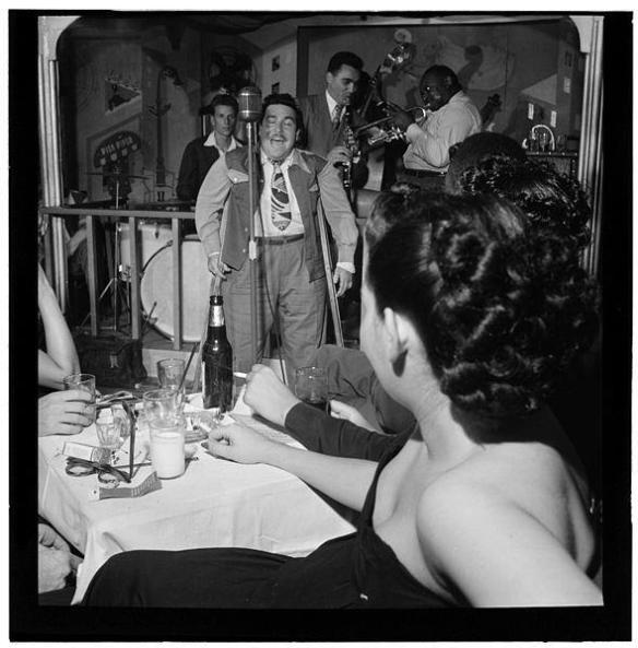 This is how it's done; Doc Pomus (center) performs in 1947.