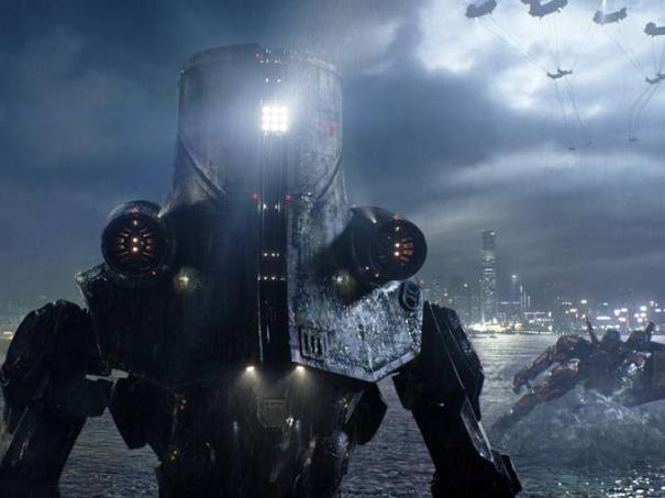 Why does this giant robot have a trash bucket on its head?