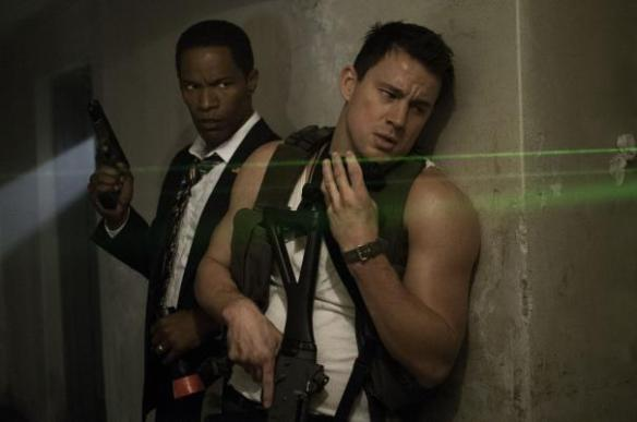 Jamie Foxx and Channing Tatum are in the crosshairs (almost).