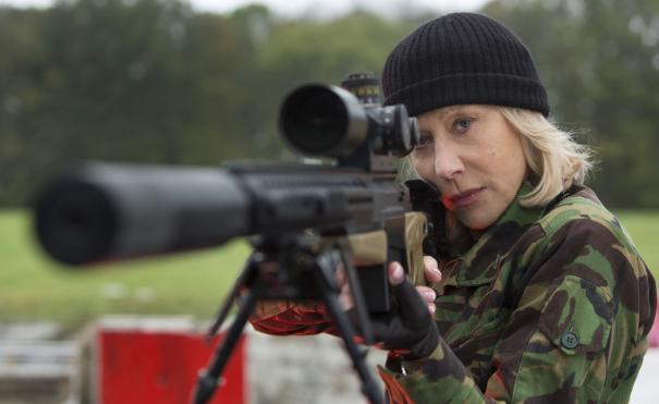 Helen Mirren takes aim.