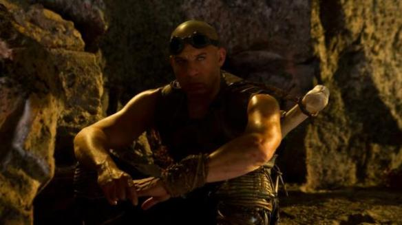 Vin Diesel practices his badass scowl.