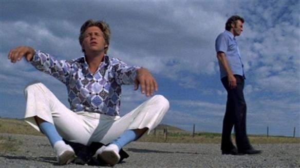 Jeff Bridges and Clint Eastwood share a Zen moment.