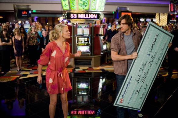 Ashton Kutcher doesn't quite believe Cameron Diaz got a bigger paycheck than he did.