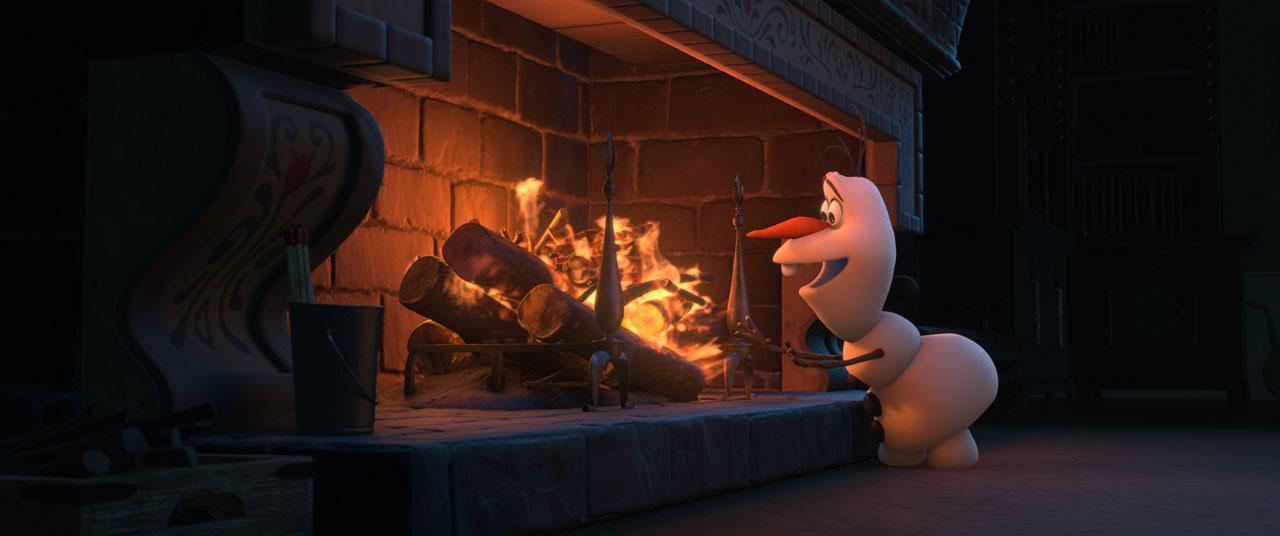 Olaf is looking to make some S'mores.
