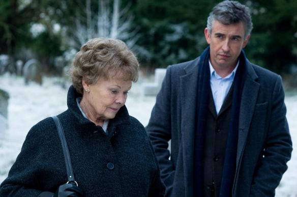 Judi Dench tries to break Steve Coogan's delusion gently that he would have made a great James Bond.