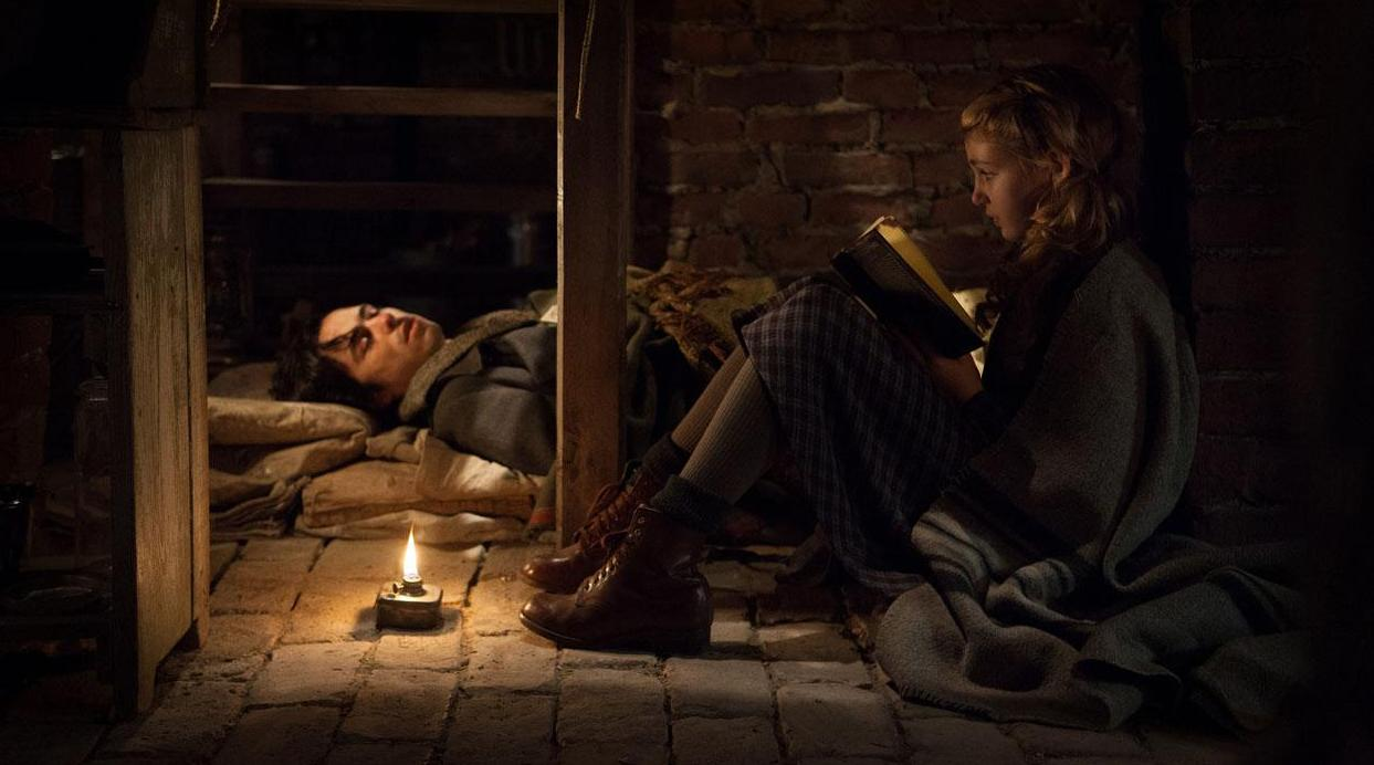 Sophie Nelisse tries to get Ben Schnetezer to rehearse their lines with her but he's too tired.
