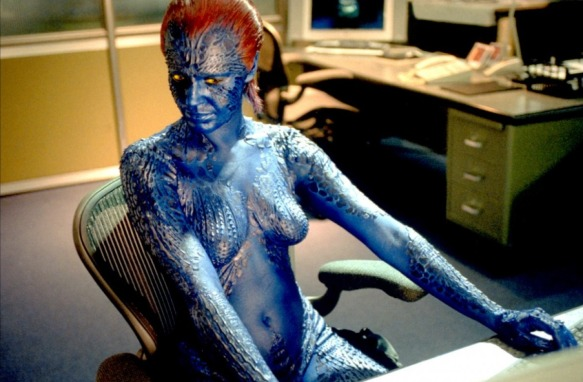 Rebecca Romijn-Stamos is feeling blue.