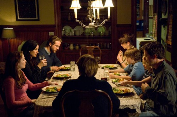 Family dinners in indie films rarely end well.
