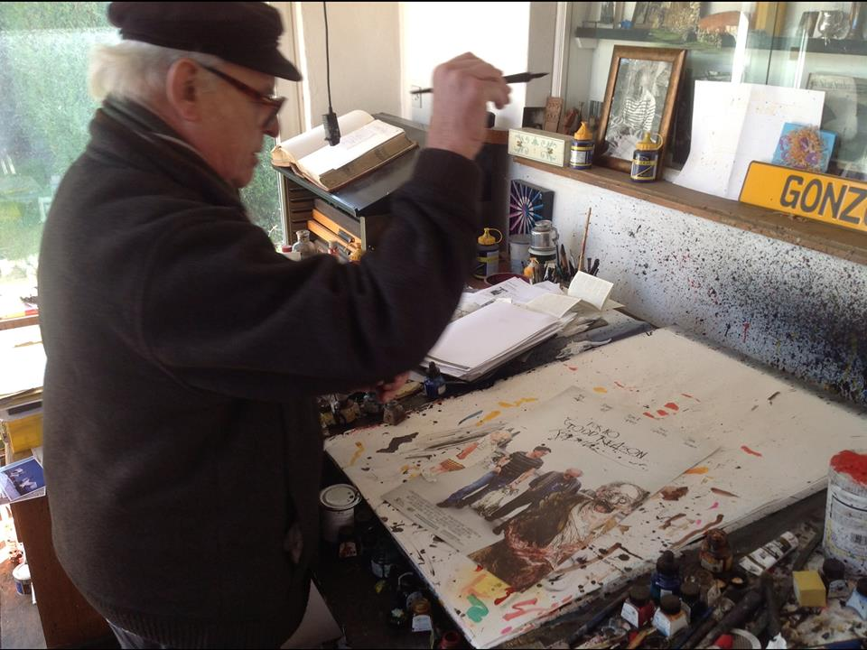 The artist in his workshop.