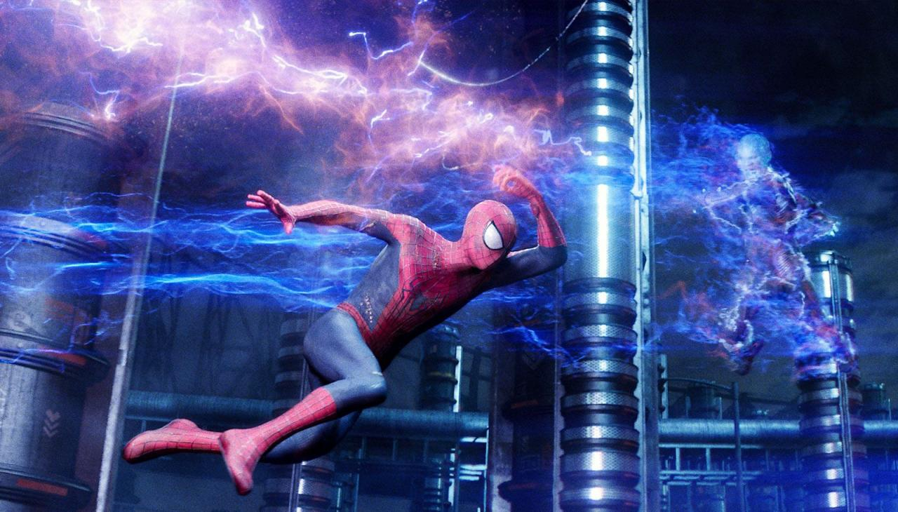 Spider-Man goes electric.