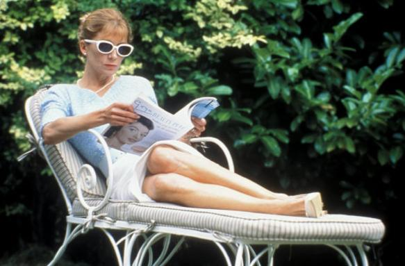 Natasha Richardson takes in a little sun while contemplating a lot of sin.
