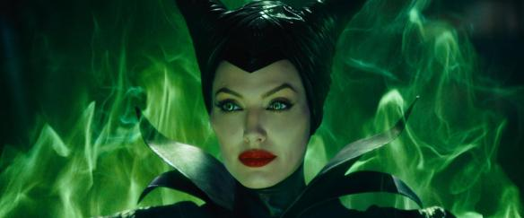 Angelina Jolie in full-on Maleficent mode.