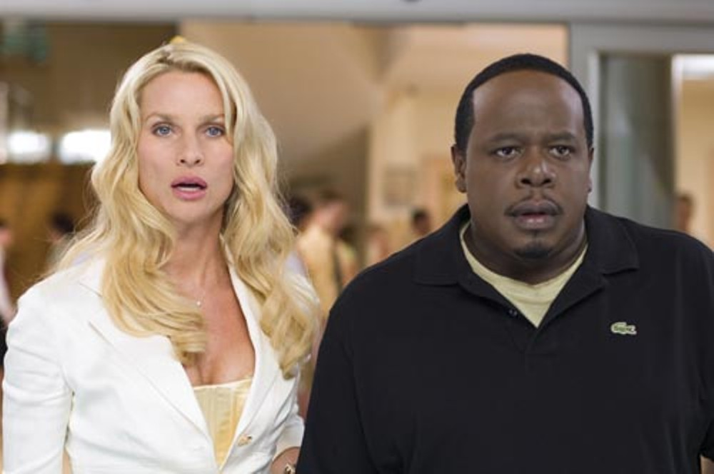 Neither Nicolette Sheridan nor Cedric the Entertainment can believe their agents signed them up for this movie.
