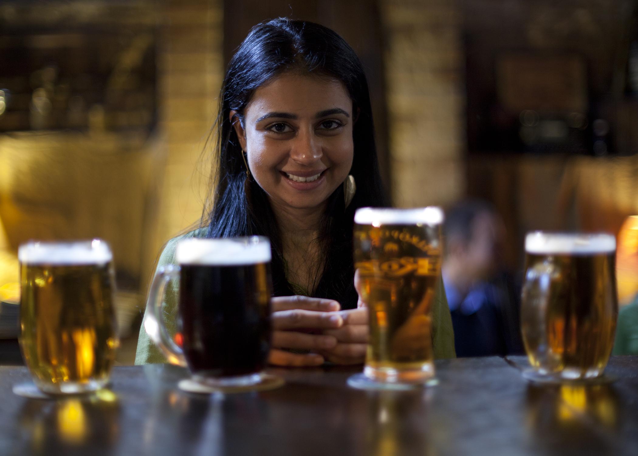 The movie fails to explore Asha's alcohol issues, alas.