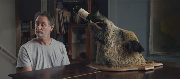 That moment when you realize your drinking buddy is a boar.