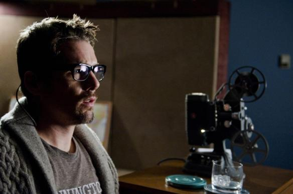 Ethan Hawke sows his home movies on set.