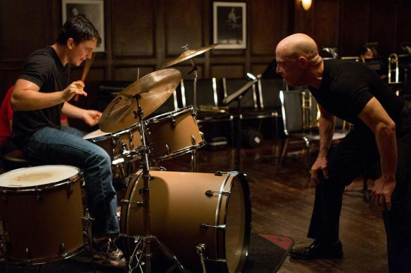 J.K. Simmons (right) prepares to march to a different drummer.