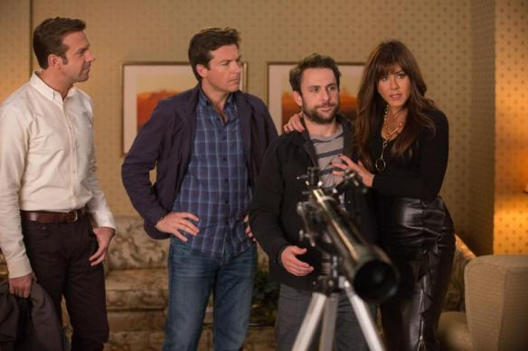 The cast of Horrible Bosses 2, sneakin' around,