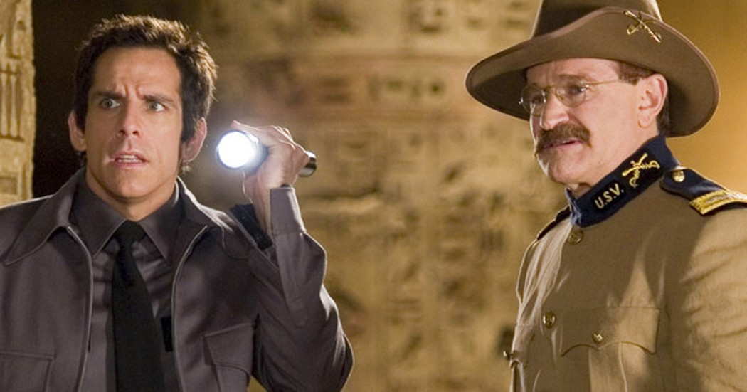 Even Ben Stiller's flashlight isn't enough to make up for the light that left us when Robin Williams passed away.