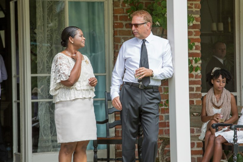 Octavia Spencer and Kevin Costner discussing race relations would make for an interesting film.