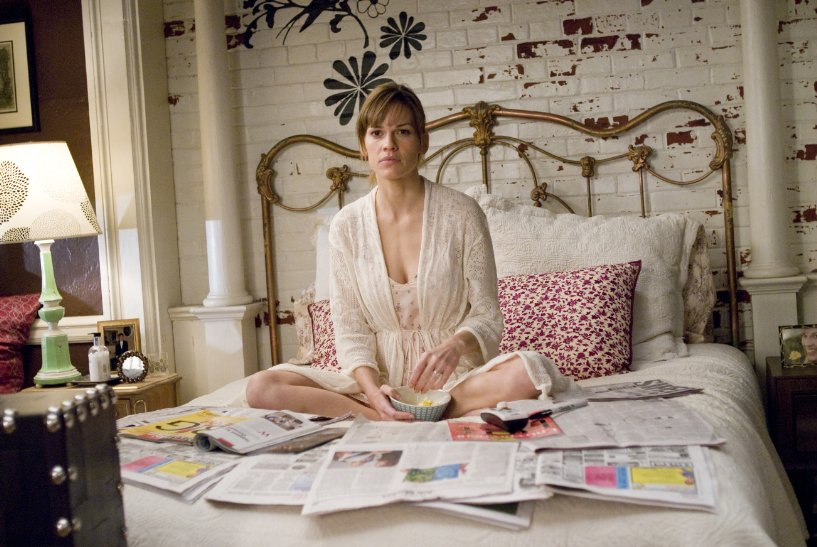 Hilary Swank contemplates Sunday morning alone with the Times.