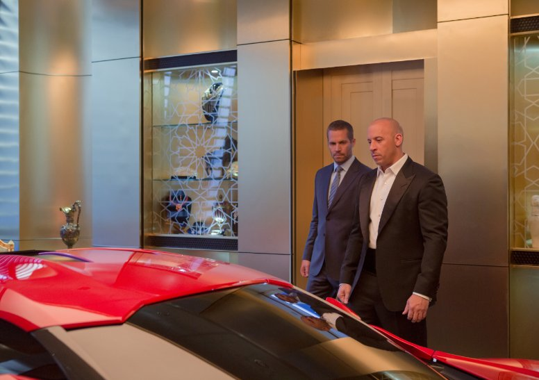 Paul Walker and Vin Diesel prepare for one last ride.