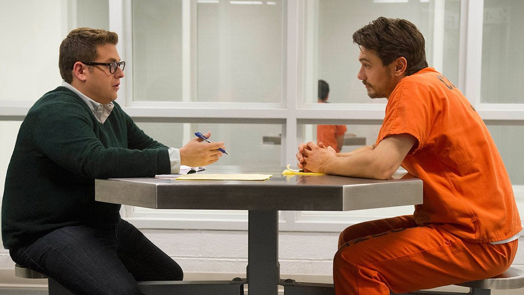 Jonah Hill takes James Franco's order in the studio commissary.
