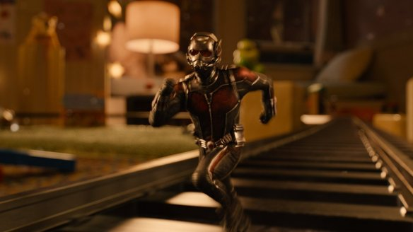 Ant-Man on the wrong side of the tracks.