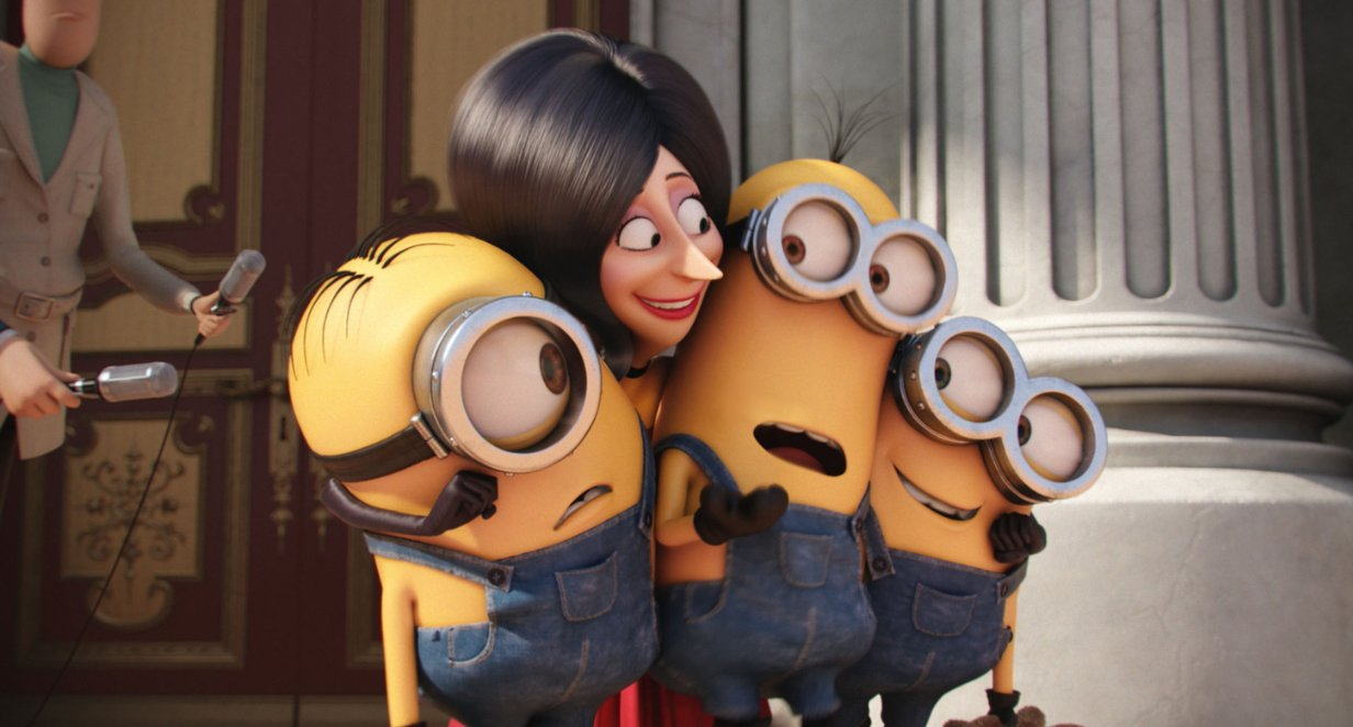 Scarlet Overkill attempts to kill the Minions with kindness.