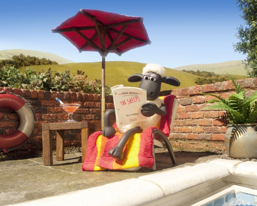 Shaun the Sheep reads the early reviews.