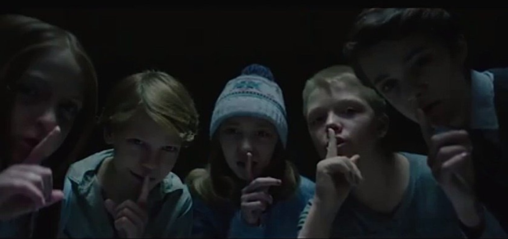Bughuul reminds us there's no talking in the theater or else he sends these kids after you.