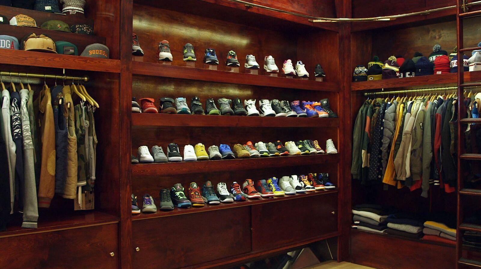 Shoe shrine.