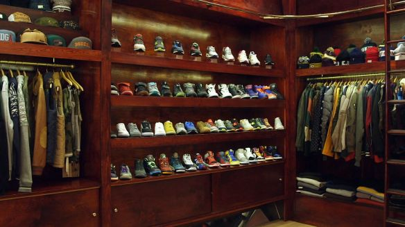 Shoe shrine.