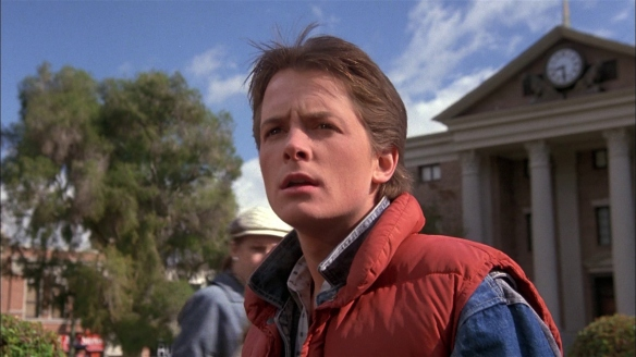 Marty McFly can't understand what all the fuss is about.