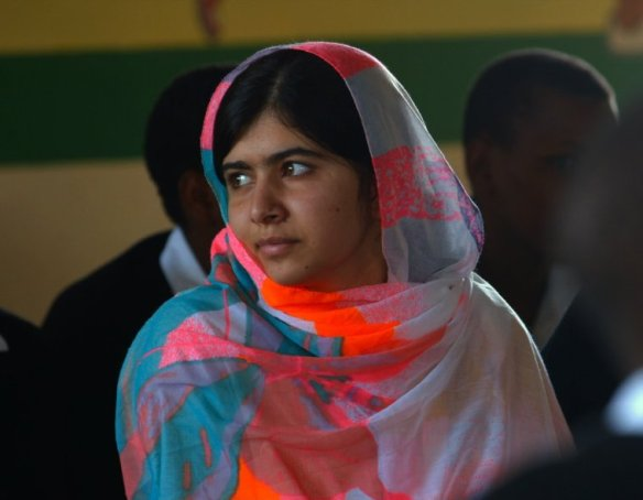 Malala Yousafzai reflective.