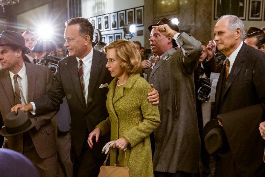 Tom Hanks meets the press.