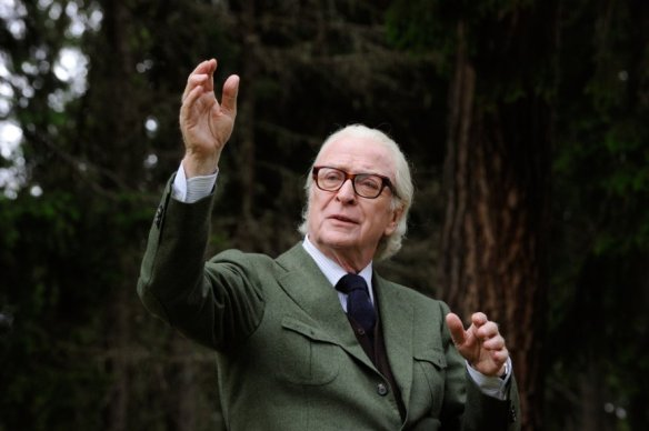Michael Caine conducts himself with dignity.