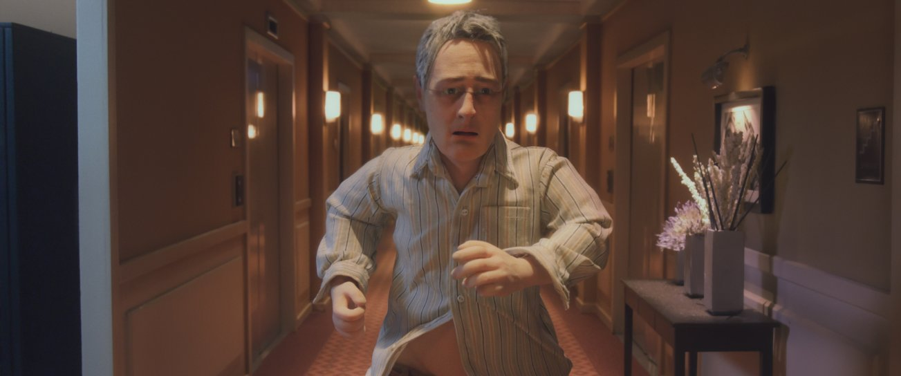 Running down the shining halls.