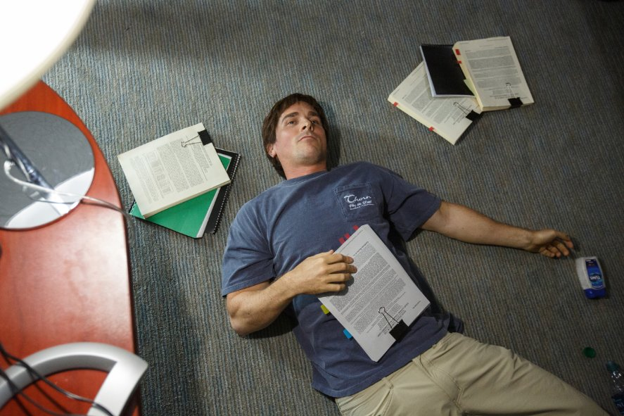 Christian Bale is overwhelmed by script submissions.
